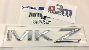 "Lincoln MKZ Rear Chrome ""MKZ"" NAMEPLATE Emblem OEM new 7H6Z-5442528-B"