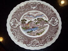 Vernon Kilns 1860 large 14-inch plates ~ hand painted ~ Set of 4 --California