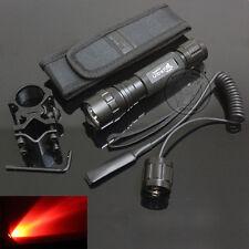 UltraFire WF-501B CREE Red light LED 1Mode Flashlight Torch + Mount Holstere Set