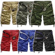 Herren Cargo Shorts Vintage Bermuda Camouflage Kurze Hosen Sport Cargohose Pants