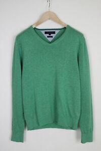 TOMMY HILFIGER LINEN COTTON Men's MEDIUM Green Melange Pullover Sweater 35729_GS