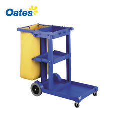 OATES Heavy Duty Commercial JANITOR TROLLEY CLEANING CART w BAG & LID COVER