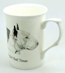~ English Bull Terrier(Full Head) ~ Bone China10 fl oz(1/2 pint) Dog Mug