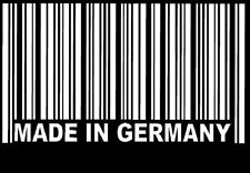 "Stickers Carrosserie Code Barre "" Made In Germany "" Spécial Voitures Allemandes"