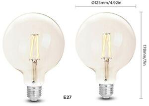 WiZ Whites Filament G125 E27 Clear 2er Pack (2 Lampen)