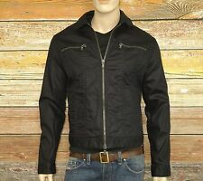 John Varvatos Star USA Jacket in Midnight Size XL Double Zipper 99% Cotton