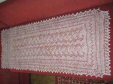 """Beautiful hand knitted Orenburg Down Shawl / Scarf (57""""х23"""") (145x57sm) White"""