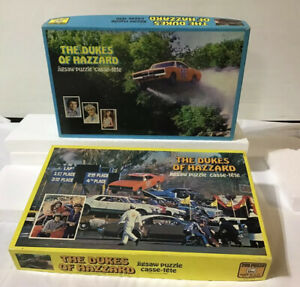 Lot of 2 complete Dukes of Hazzard 200 Jigsaw Puzzles APC Warner Bros 1980 1981