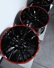 C7 Z06 Style Black Corvette Wheels Red Lip 2014-2017 C7 Stingray 18x8.519x10