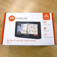 "MOTOROLA XPLORE 600 6"" GPS Sat Nav UK and ROI Maps FREE LIFETIME UPDATES (B SN)"