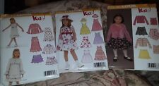 Lot of 3 Sewing Patterns NEW LOOK KIDS Skirts Tops Dresses Szs 3-8 NEW UNCUT