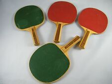 LOT OF 4 VINTAGE MADE IN JAPAN REGENT TABLE TENNIS RACKETS / PING-PONG PADDLES