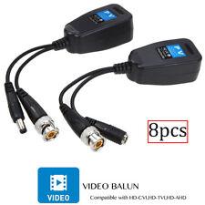 8 PIECES CCTV Coax BNC Video Power Balun Transceiver to CAT5e 6 RJ45 Connector