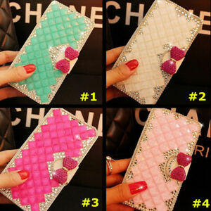 Phone Case for Samsung , Bling Crystal Diamonds leather Flip Stand Wallet Cover