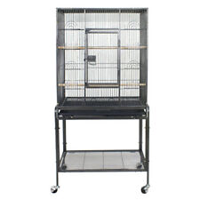 """53"""" Large Parrot Bird Cage Bird Finch Feeder Stand Bird Lovers Play Top House"""