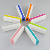 1 Stk Power Bank Akku 2600 mAh Ladegerät extern USB für Smartphone 7 Farben J1B6