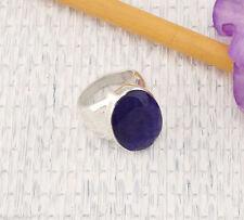 Ovale Solitäre Echte Edelstein-Ringe mit Saphir