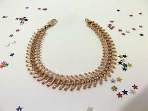 GOOD QUALITY Ladies 9ct Rose Gold Plate Bracelet