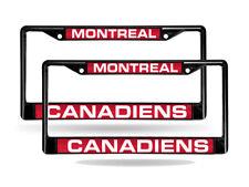 Montreal Canadiens Black Metal (2) Laser License Plate Frame Set