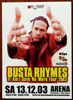 Busta Rhymes It Ain't Save No More Tour 2003 Promotional Post Card