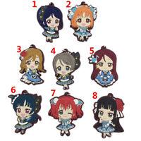 Anime LoveLive! sunshine rubber Keychain Key Ring Race straps  A