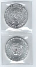 US (2) Two - 1 oz .999 SILVER ROUNDS Golden State Mint Aztec Calendar Design