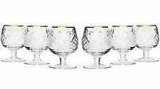5 Oz Crystal Cut Brandy Snifters, Vintage Cognac Whisky Glasses, 6-Piece Set