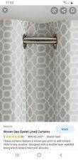 next woven geo eyelet lined door curtain 168cm x229cm