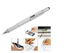 6in1 Capacitive Touch Screen Stylus Pen Spirit Level Ruler Screwdriver Fr iPhone