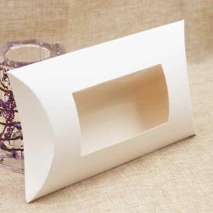 candy box pillow shape gift kraft paper packaging boxes wedding favor gift boxes