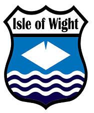 1 x Isle of Wight IOW County Flag Decal Car Motorbike Laptop Window Stickers