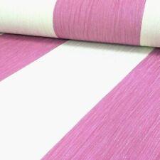 Debona Crystal Pink & Ivory Glitter Stripe Vinyl Wallpaper 13cm wide 9014