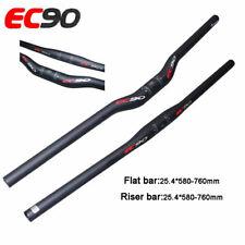 EC90 Carbon Firber Mountain Bike Flat/Riser Bar Handlebar Bar 25.4*600-720mm