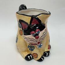 "Cbk 2002 Cat Pitcher Large Ceramic 7 1/2"" Tall"