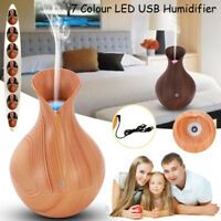 Air Purifier Essential Oil Diffuser USB LED Ultrasonic Aromatherapy Humidifer AU