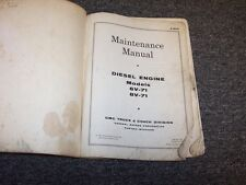 1962 GMC Diesel Model Engine 6V-71 8V-71 Shop Service Repair Maintenance Manual