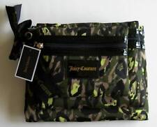 Juicy Couture Camouflage Print Flat Cosmetic Bags (Set of 3) #YSRUS101 NWT