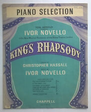 Vintage Sheet Music: Kings Rhapsody Piano Selection Ivor Novello Original 1949