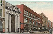Brockton MA Street Vue Peoples Savings Bank Standard Supply Store Front Postcard