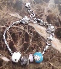 Brand New Brighton Turquoise HEART Bead with BLING Bracelet NWOT MSRP $99.95