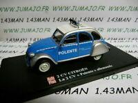 2CVAP52G 1/43 ELIGOR Autoplus CITROËN 2CV Polente Polizei allemand