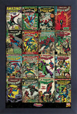 SPIDERMAN COVERS 13x19 FRAMED GELCOAT POSTER MARVEL COMICS VINTAGE HULK IRON NEW