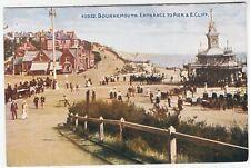 BOURNEMOUTH - Entrance To Pier - Photochrom Celesque #40832 - c1900s era