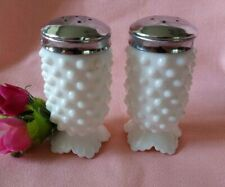 Vintage Fenton Hobnail Milk Glass Salt & Pepper Shakers