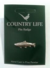 Trout Pewter Lapel Pin Badge