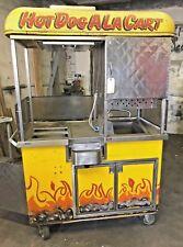 Mobile Hot Dog Cart Food Vending Concession Stand Kiosk Pretzels Pizza