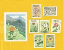 "Kirghizistan 1994-post freschi ** MNH-mi. n. 29-35 + blocco 4 ""piante medicinali"""