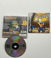 Simpsons Wrestling (Sony PlayStation 1, 2001) Black Label COMPLETE!! PS1