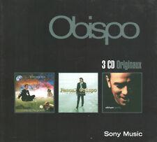 Pascal Obispo Box Set (3 CDs, Sony France) French Modern Rock Legend/Import