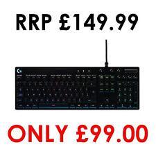 Logitech G810 Orion spettro RGB Gaming Meccanico Tastiera, layout QWERTY, Regno Unito